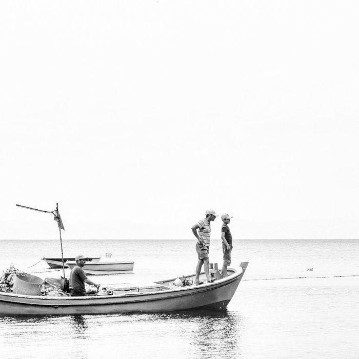 Fisherboat Fishermen Marmara Sea EyeEm Best Edits Sea View Blackandwhite Monochrome Bw Bnw