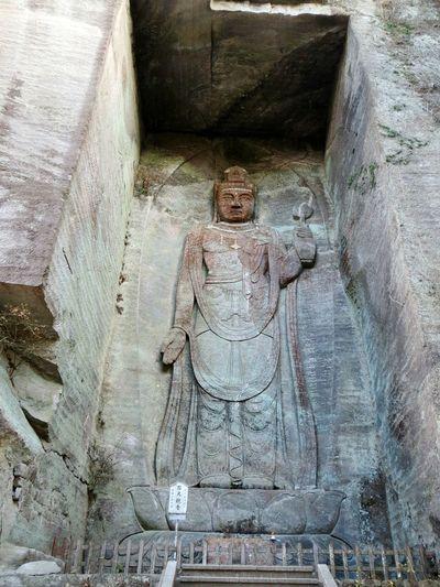 Big Buddha Buddha Famous Place Outdoors Discovery Adventures Kyonan City Nokogiriyama Mt.nokogiri Japan Climing Trecking Mountain Winter Sightseeing Spot Sightseeing Hiking Ruins