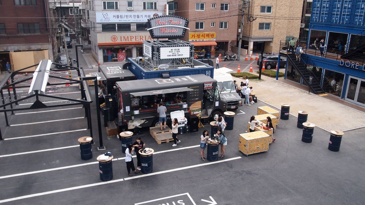 Architecture City Common Ground Container Building Day Design Design Building Food Stall Outdoors Seoul