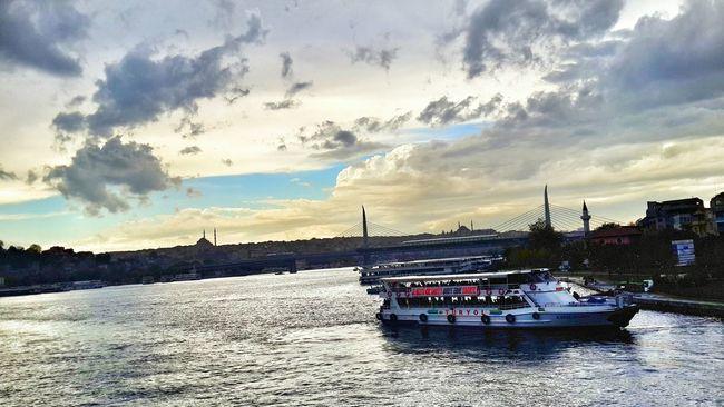 Sea Nature Sky Water Waterfront Cloud - Sky Galata Köprüsü Galatatower Istanbul Eminönü/ İstanbul Eminonuvapur