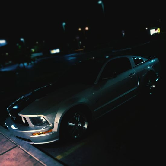 TakeoverContrast 05 restored mustang gt Transportation Land Vehicle Car Mode Of Transport Night Road Street Illuminated Journey Tail Light Outdoors Focus On Foreground Motor Vehicle