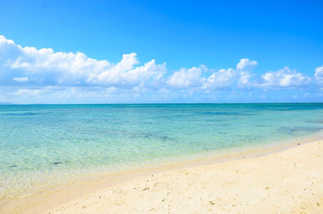 Sea Beach Sky Sand Blue Water Cloud - Sky Scenics Horizon Over Water Nature Beauty In Nature Day Tranquility Tranquil Scene Outdoors No People Vacations Taketomi Taketomi Island Japan Japon