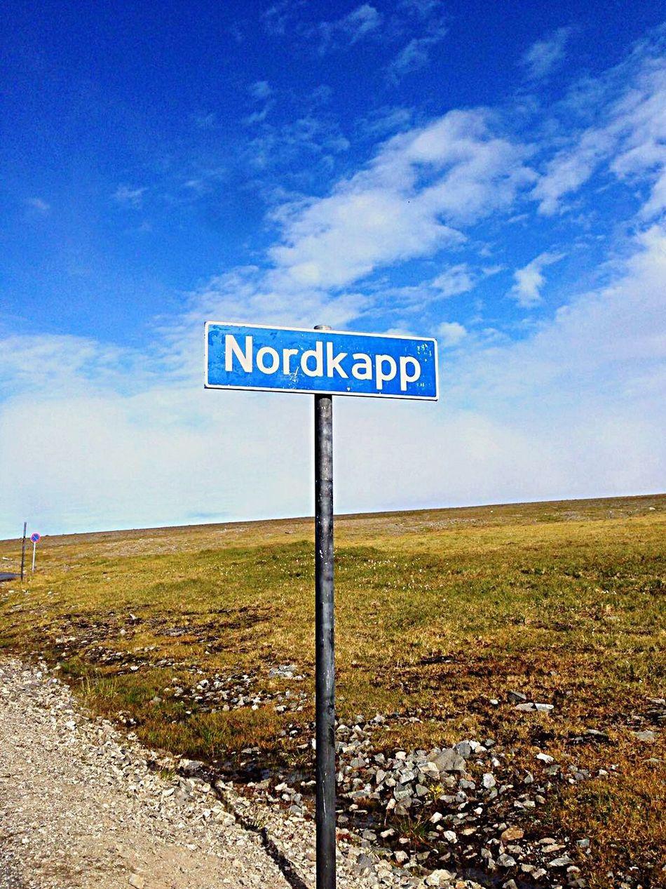 Sky Cloud - Sky Outdoors Nature Road Sign Nordkapp Day Sea