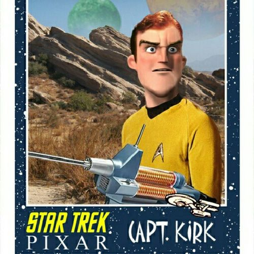 Sciencefiction Startrek Captkirk Fakes tvshows pixar