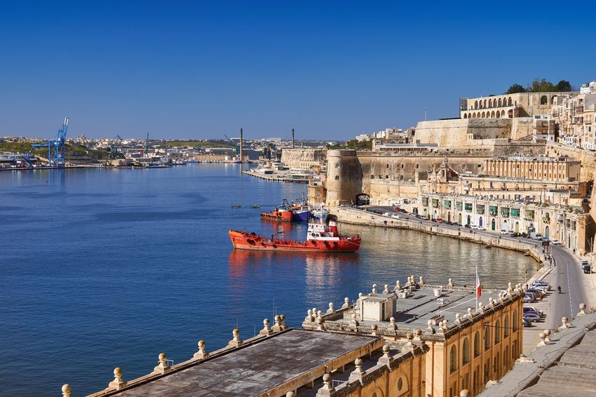 Grand Harbour, Valletta, Malta Malta Valletta Grand Harbour Harbour Sea Mediterranean  Water Waterfront Ship Nautical Vessel Historic Historical Building Architecture Travel Destinations Outdoors Blue Sky History Sunlight Cityscape No People Clear Sky Fortress Fortification Reflections In The Water
