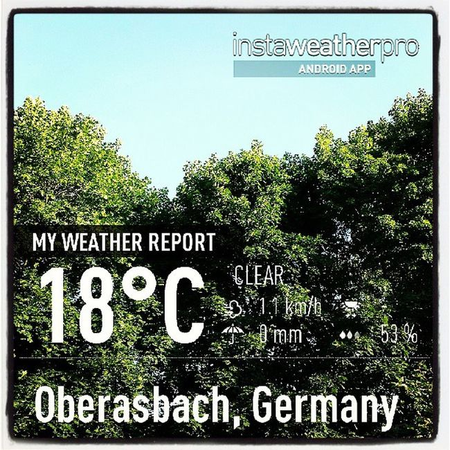 Weather Instaweather Instaweatherpro Androidonly androidnesia instagood Oberasbach Germany
