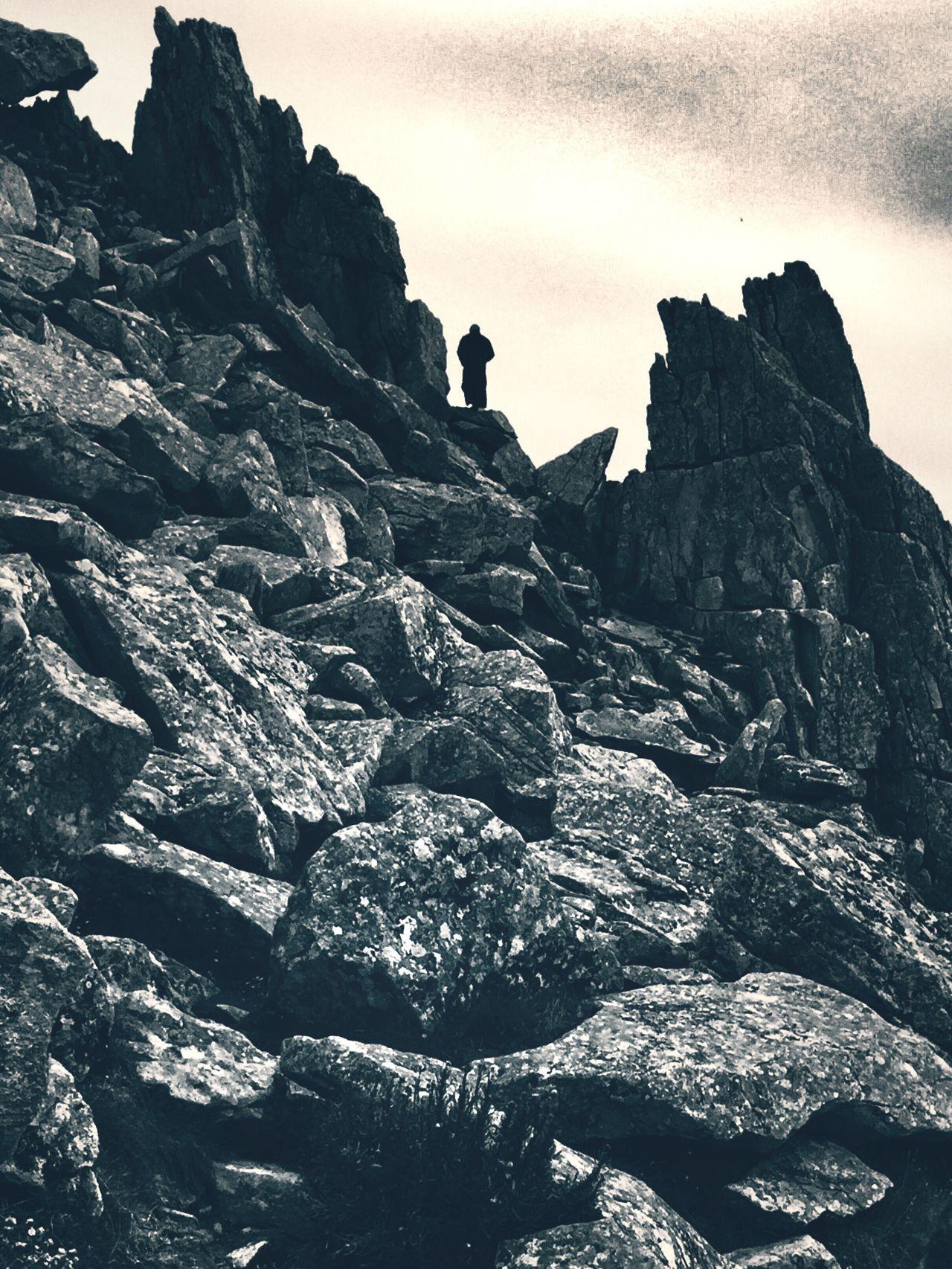 Among The Rocks Cliffs Rocks Blackandwhite Alone
