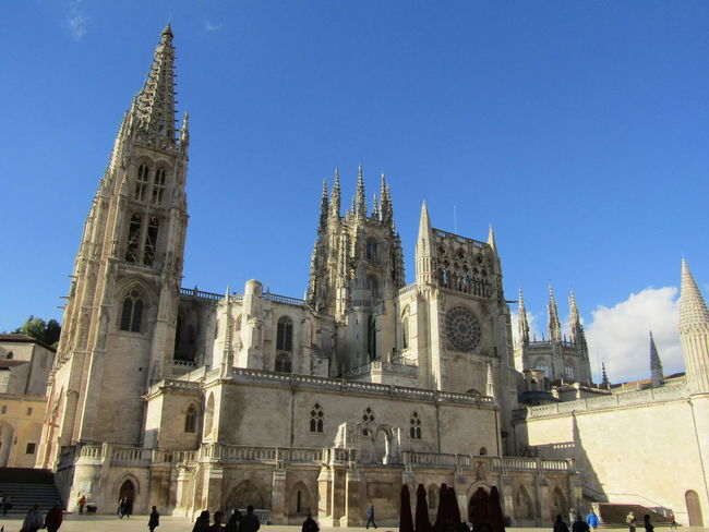 Travel Destinations Church Kirche Santa Maria Burgos SPAIN Spanien Way Of Saint James Jakobsweg Cathedral Kathedrale Clear Sky Pilgrimage Stadt City Architecture Religion Building Exterior Summer Sommer Place Of Worship
