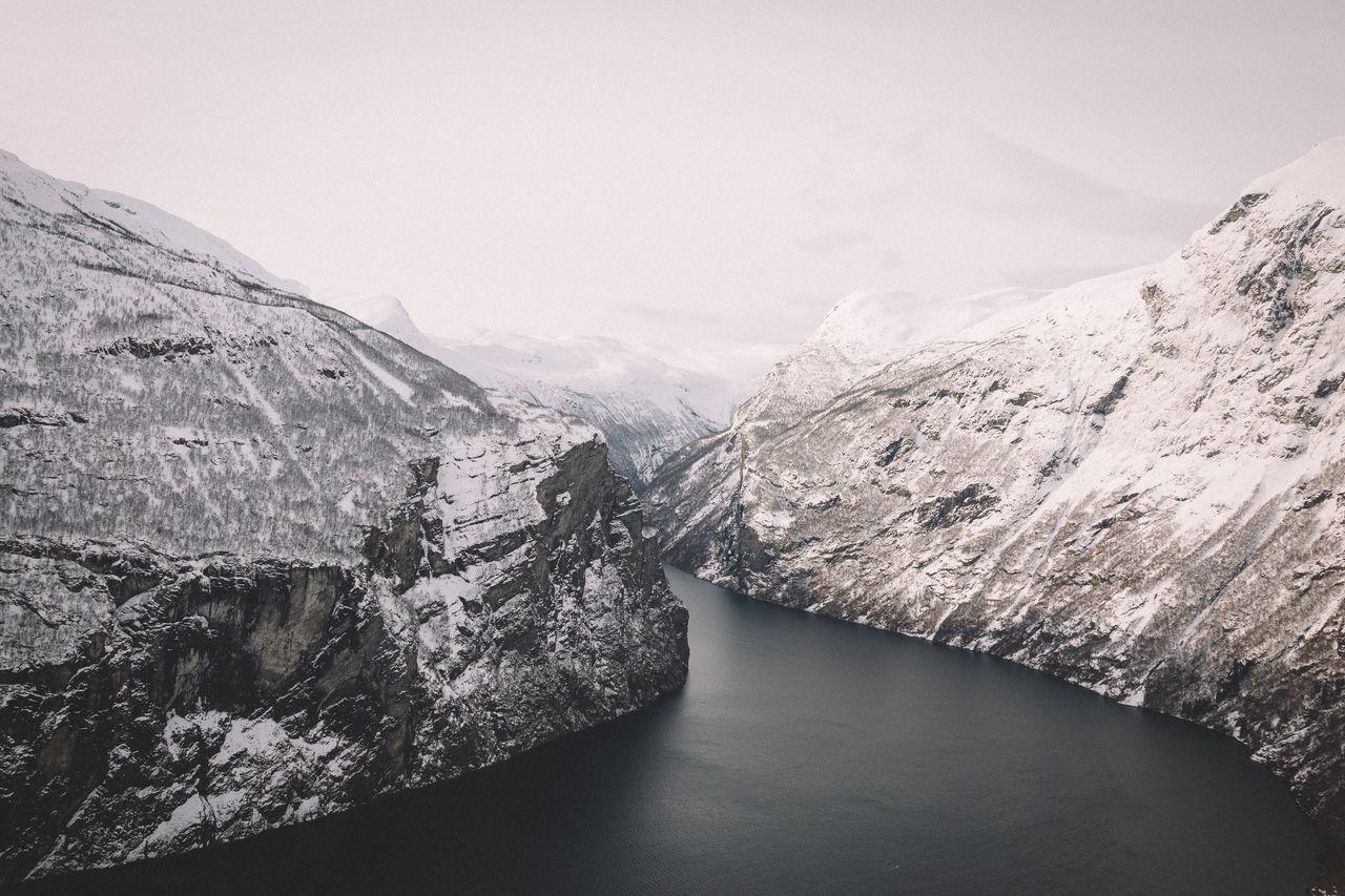 fjords Norway explore Winter power in nature EyeEm Best Shots roadtrip Travel outdoors vscocam landscape Nature mountains winter wonderland snow Geiranger Fjord