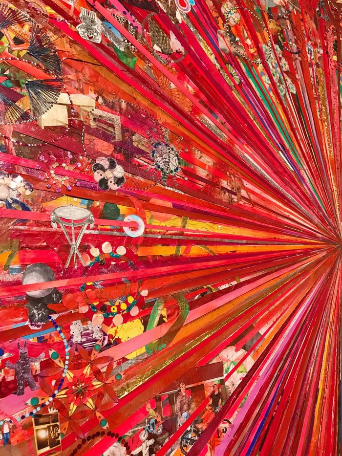 Red Full Frame Multi Colored Backgrounds No People Day Outdoors Close-up Louisiana Museum Of Modern Art Tal R Modern Art Still Life Art Artist Indoors  Collage Art Painter - Artist Painting Variation