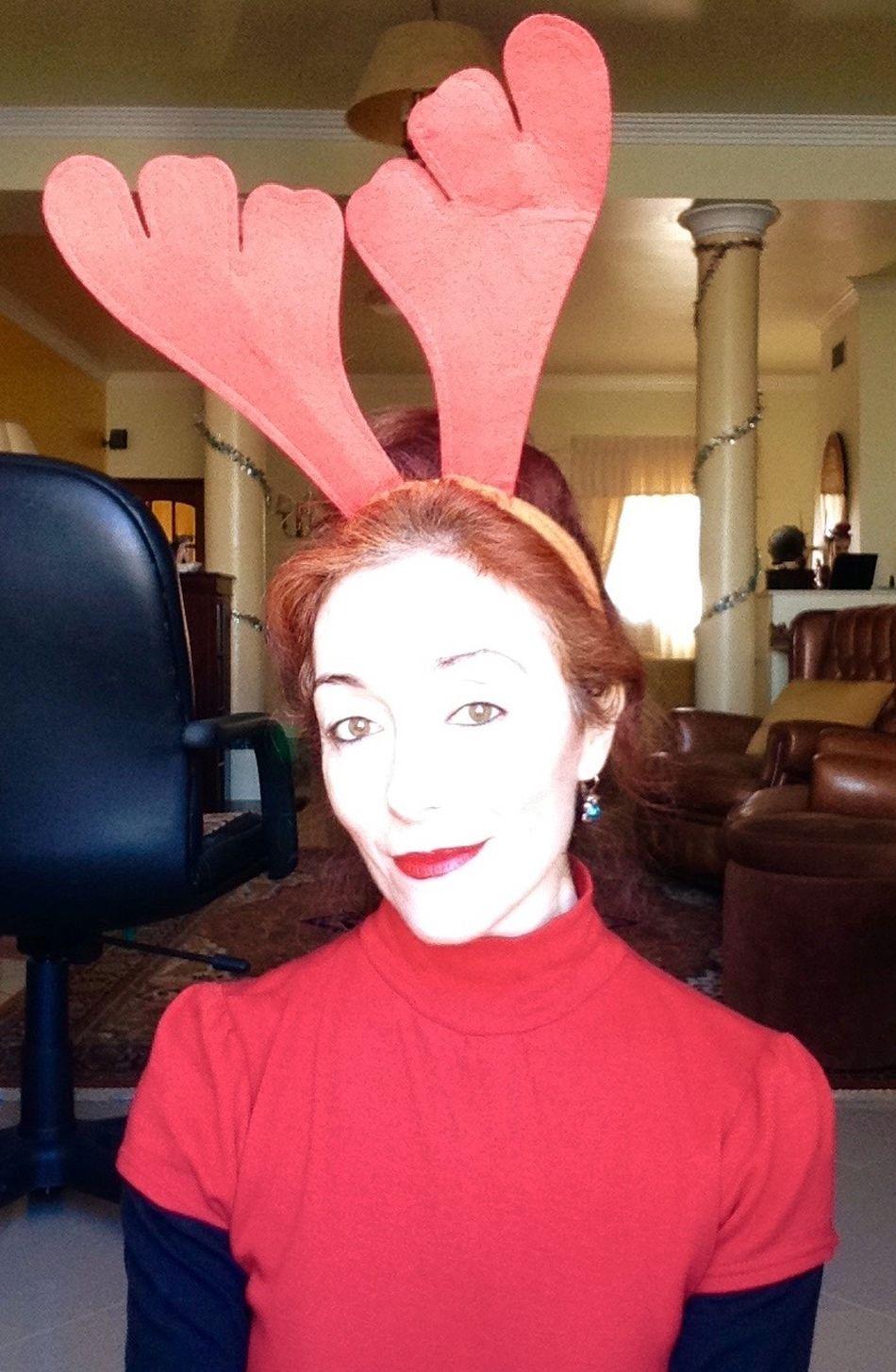 Christmas Day Christmas Reindeer Xmas Profile Picture Profile Selfportrait Selfie