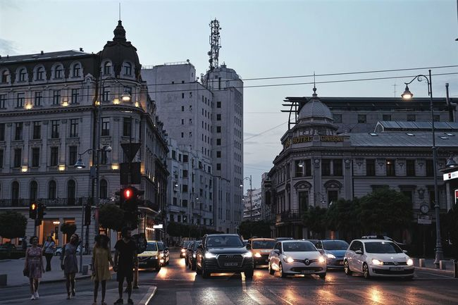 Bucharest centre ville - a bit too grey in the picture, still nice - Architecture Building Exterior Car Centreville City City Life City Street Sky Street Tall Tall - High Traffic Travel Destinations
