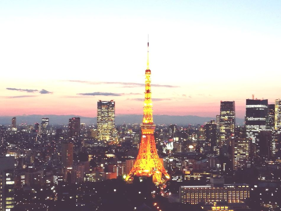 Tokyo,Japan Skyscraper Cityscape Sunset City Travel Destinations Tower Building Exterior City Life Sky Downtown District Traffic Outdoors Igniting Scenics Modern Architecture Urban Skyline Travel Dusk Illuminated Sky Trees And Clouds Tokyo Sky Tree