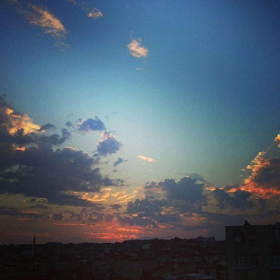 Gun Batımı Istanbul Gunes bulutlar