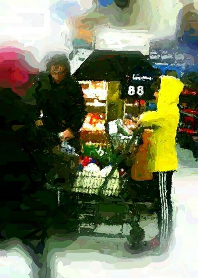 Food Shopping Mother And Son