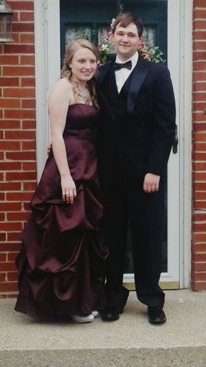 PROM! Adult Full Length Mid Adult Formalwear Love Day Togetherness Outdoors Mid Adult Men People Evening Gown Adults Only Two People Standing Red Mature Adult Built Structure Well-dressed City Young Adult First Eyeem Photo