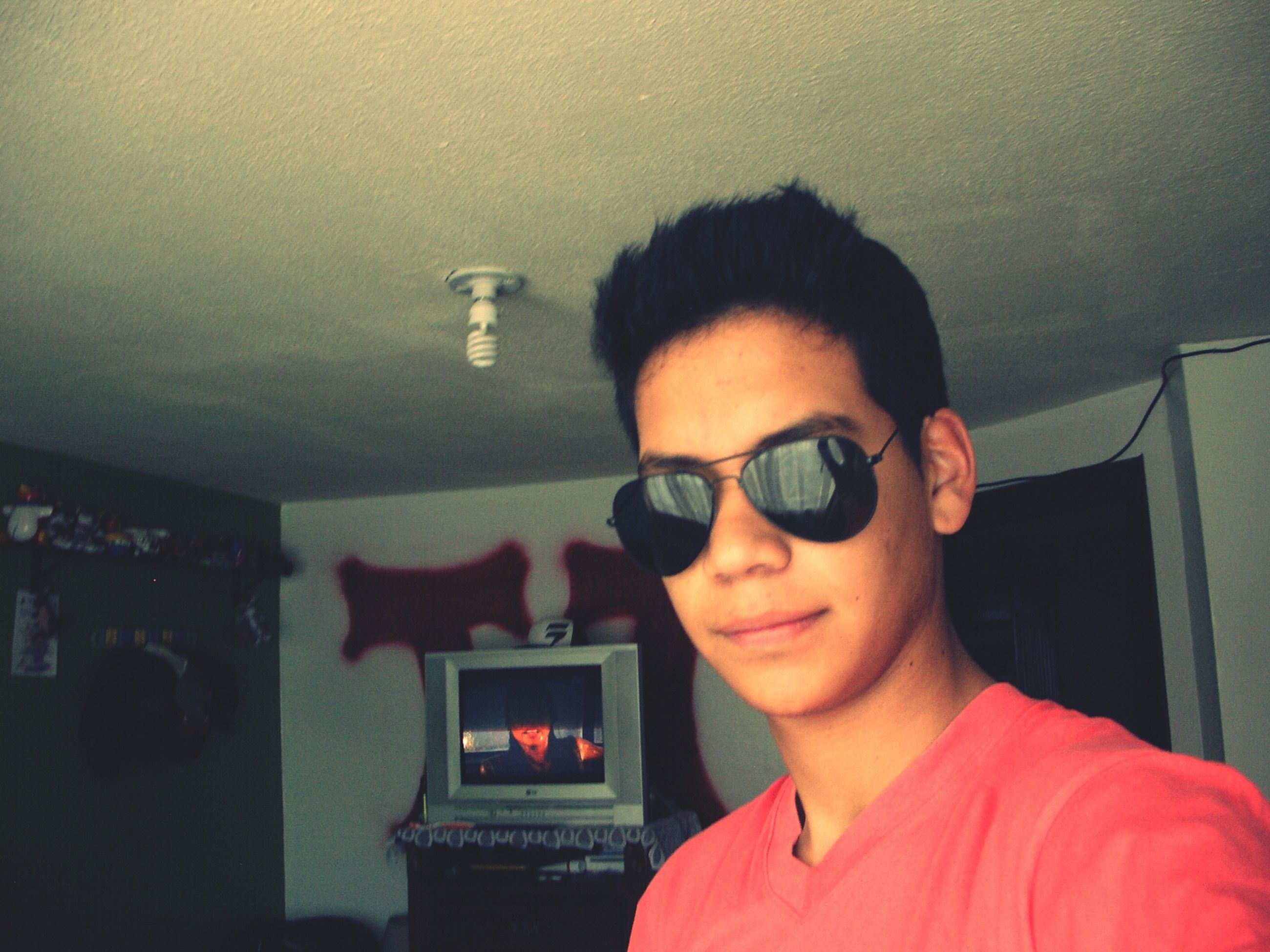 young adult, lifestyles, young men, headshot, person, portrait, looking at camera, leisure activity, front view, indoors, sunglasses, casual clothing, technology, mid adult, photography themes, mid adult men, head and shoulders