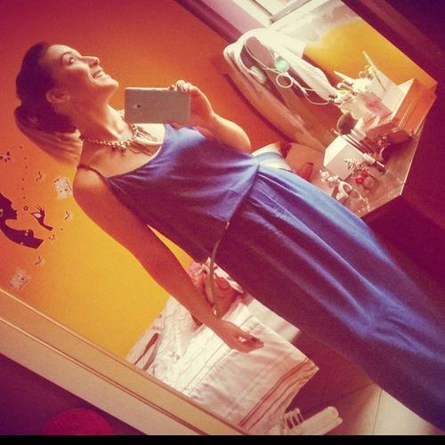 Uma selfie diferente! 😉 Selfie Vestidoazul Saturday Blue light luz claridade smile