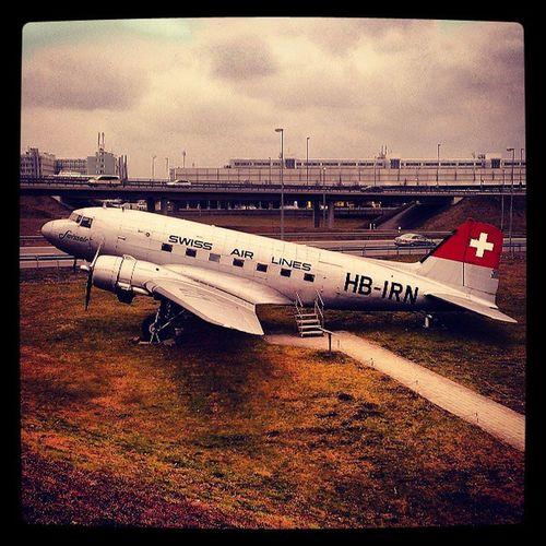 Airplane Swissair Airport Munich HDR