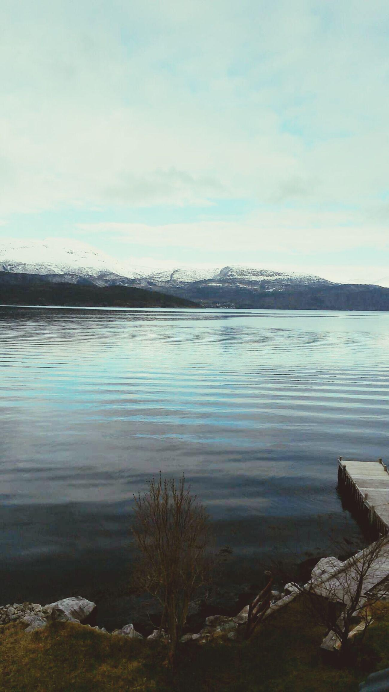Norway Hardangerfjorden Jondal Mountains Morning View