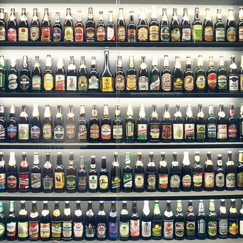 Bottles collection at the Beer Museum next door to my AirBNB. - Beautifully Organized Beers Beer O'clock Bottles Collection Bottle Beer Time In A Row Order Shelf Food And Drink Abundance Travel Photography Tourist Attraction  Tourism Choice