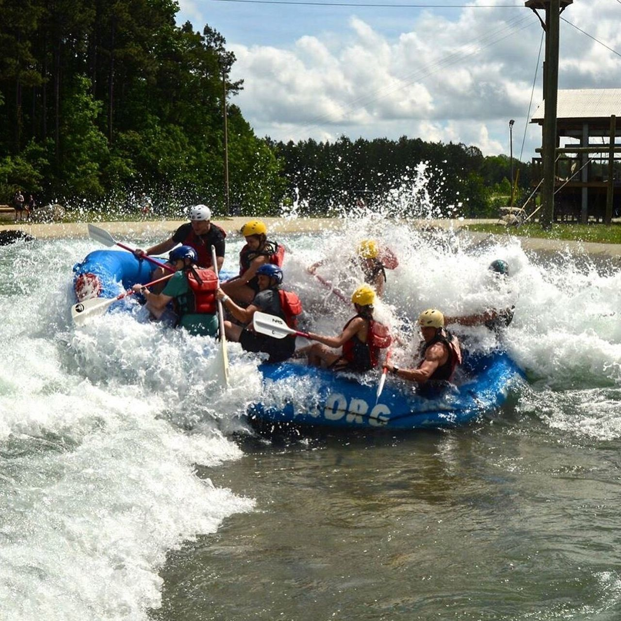 Whitewater rafting in Charlotte, NC. Rafting Outdoors Whitewater Charlotte North Carolina Usnwc Water Sports Adventure Action Shot  First Eyeem Photo