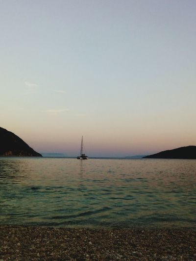 Breathing Space Lefkada, Greece Blue Sea Sunset Nautical Vessel Sea Outdoors Sky Tranquility Water Nature Silhouette Travel Sailboat Horizon Over Water Travel Destinations No People Vacations Day Beach Lighthouse Beauty In Nature Freedom Sailing Ship