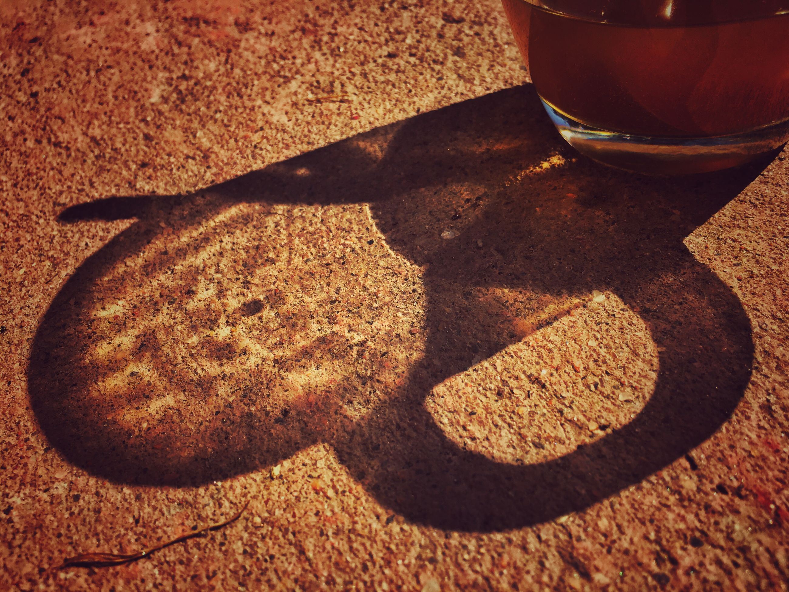 shadow, food and drink, sunlight, high angle view, no people, food, close-up, sand, day, freshness, nature, indoors, animal themes