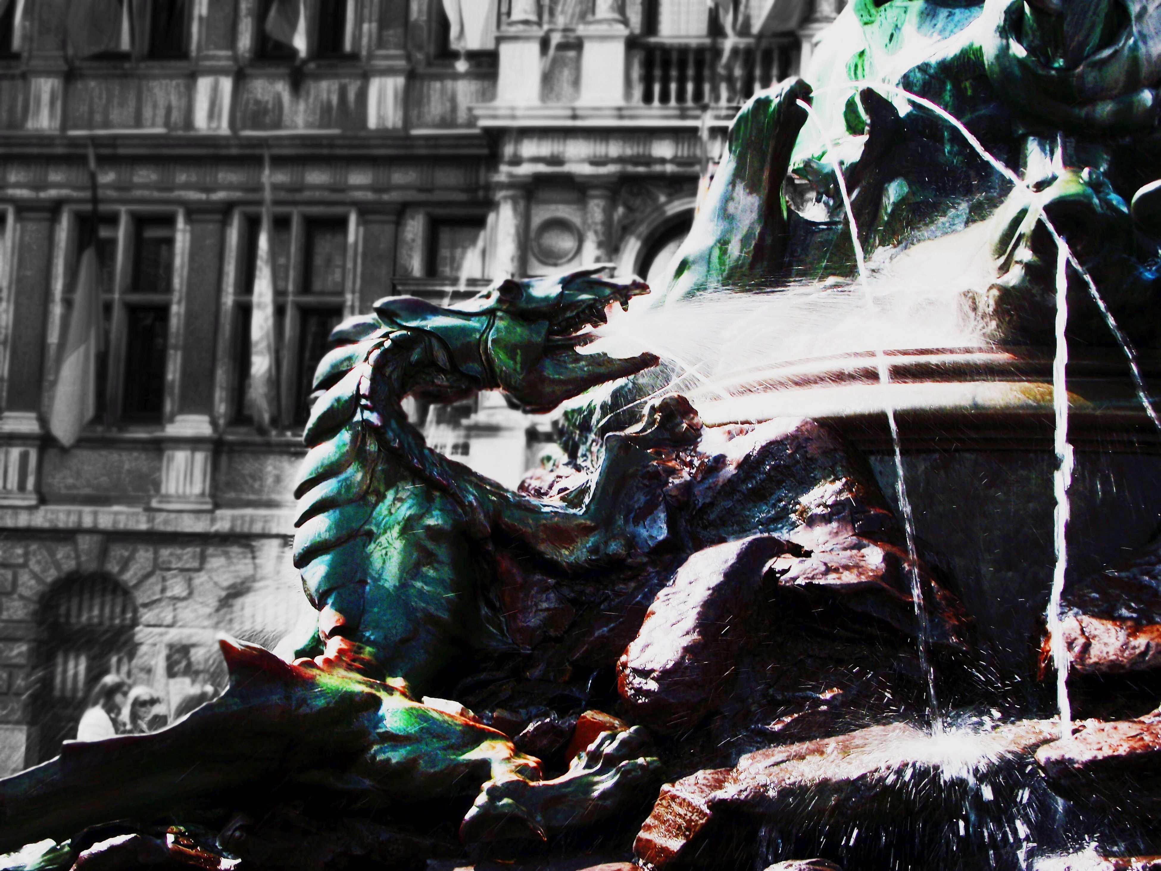 Photography In Motion Belgium Brabo Water Fountain Urban Landscape