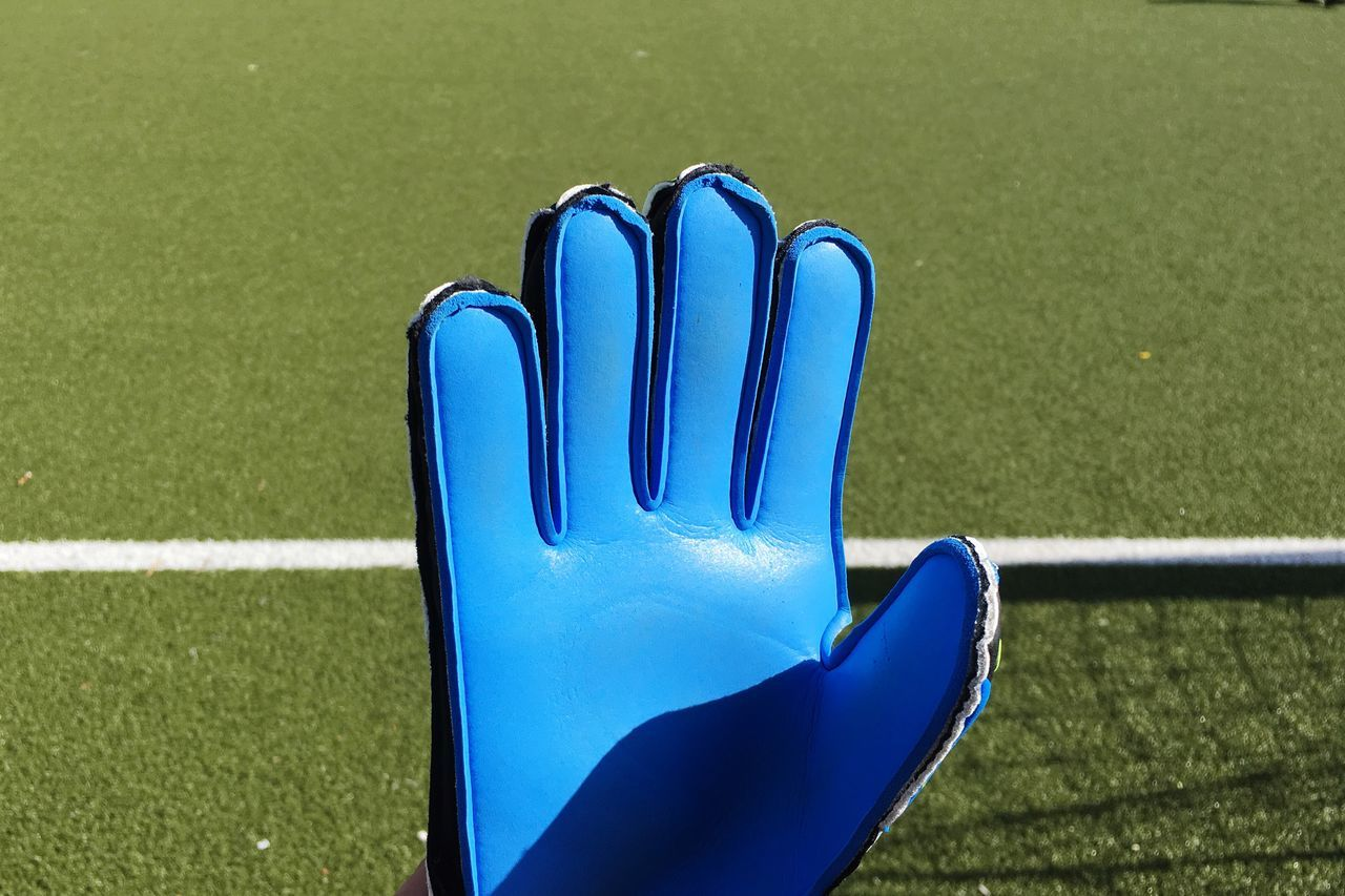 High five, Monday! Blue Green Color Sport Day Outdoors No People Grass Close-up Soccer Field Fussball Tor Goal Goals Activity