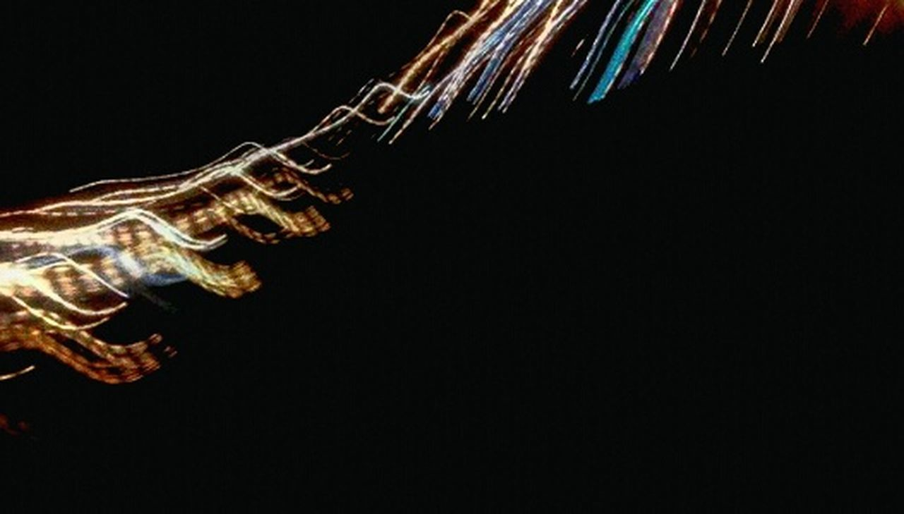 Abstract Motion Illuminated Speed Night Light Trail No People Black Background Futuristic Technology City Sky Glowing Travel Destinations