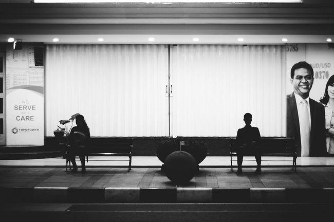 the space between us... | The Street Photographer - 2016 EyeEm Awards Street Photography Bwstreetphotography Black And White Monochrome Photography Bandung EyeEm Gallery EyeEm Indonesia Documentary Photography Capture The Moment Bw Photography