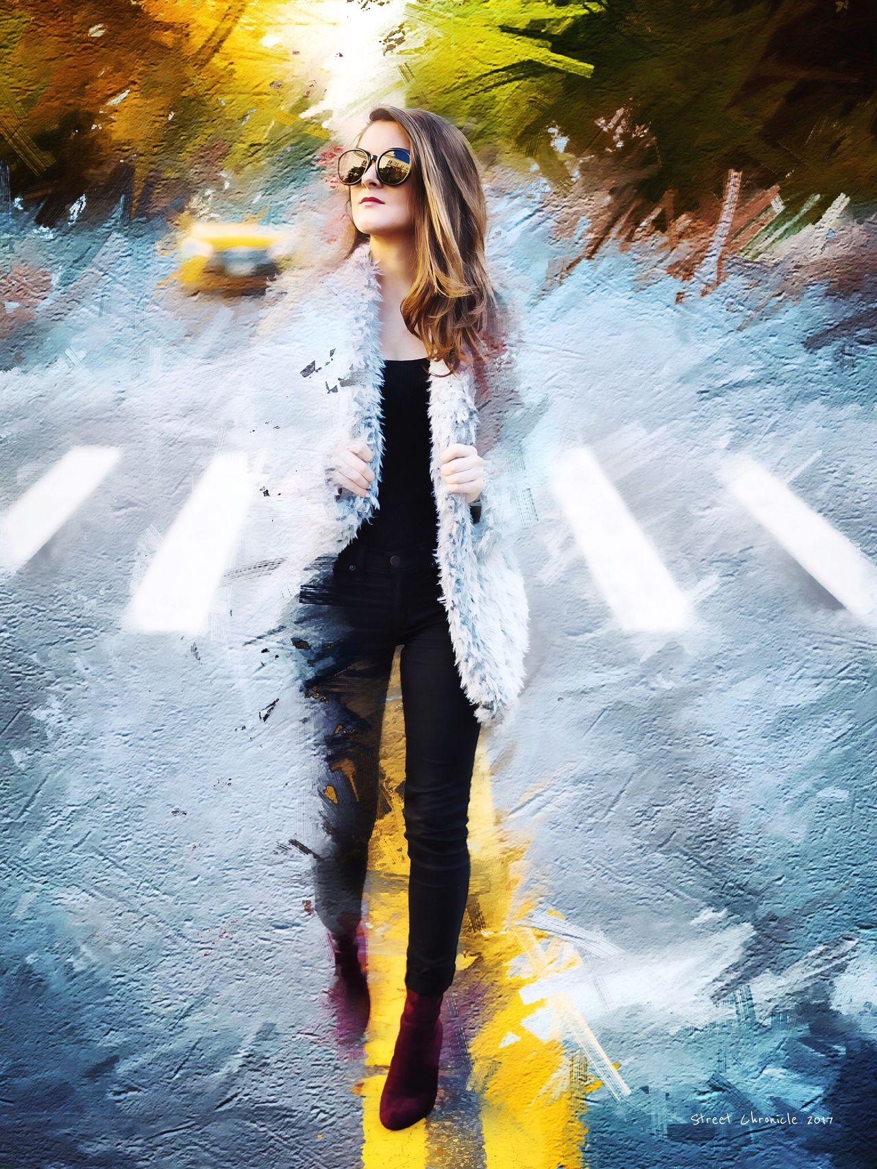 One Person Fashion Lifestyles Sunglasses Leisure Activity Real People Full Length Women Outdoors Motion Young Adult Day People Adult NYC Art Gallery Art Artist Style Arts Culture And Entertainment Lifestyle Art, Drawing, Creativity Artistic Digital Art Fashion