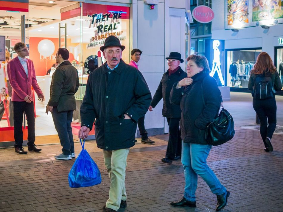 Two hat situation, They're Real - London, Feb 2017 Street Photographer Street Color Street Photography Candid Capture The Moment People London EyeEm Best Shots - The Streets