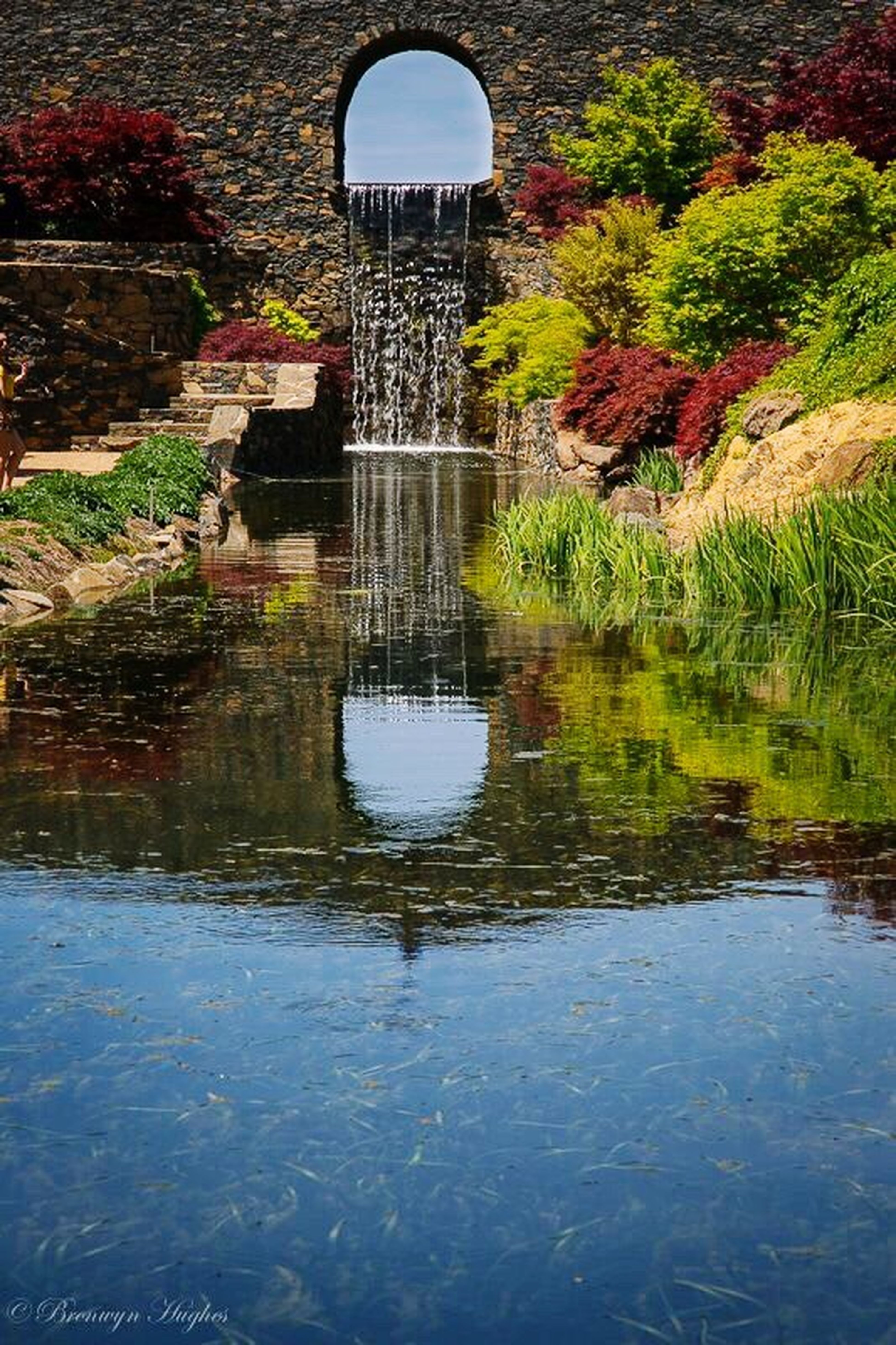 Reflected Glory Reflection Gardens Mayfieldgarden English Garden Landscape Waterfall Colourful
