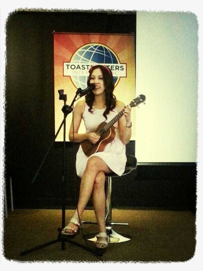 Playing My Ukulele Music I love my ukulele