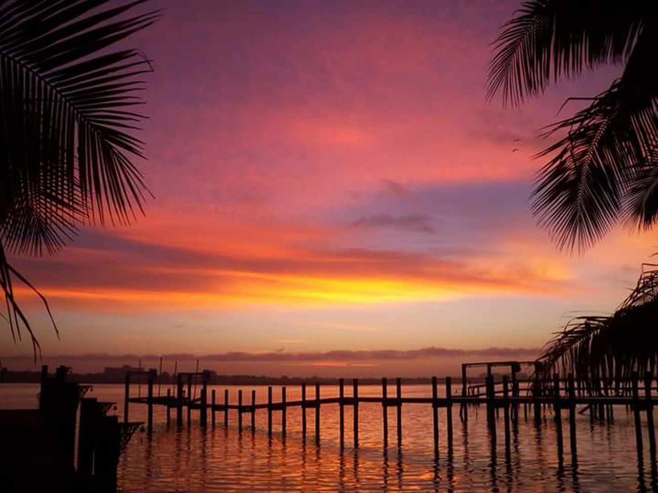 Hello 2016. First Sunrise 2016 Happy New Year 2016 Gorgeous Sky Brand New Day Brand New Year Docks Orange Sky January 1 2016 Peace To The World Outdoor Photography Beach Photography