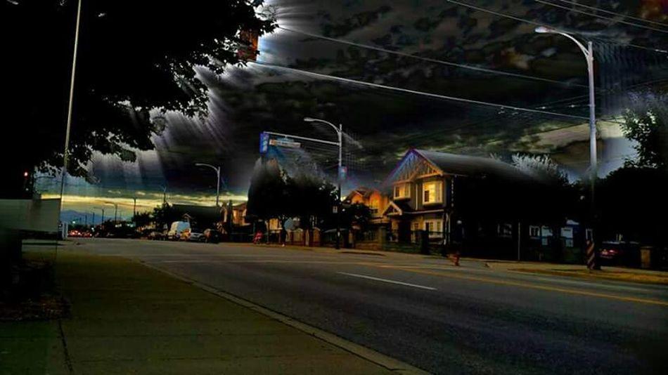Street Photography Night Lights Effect