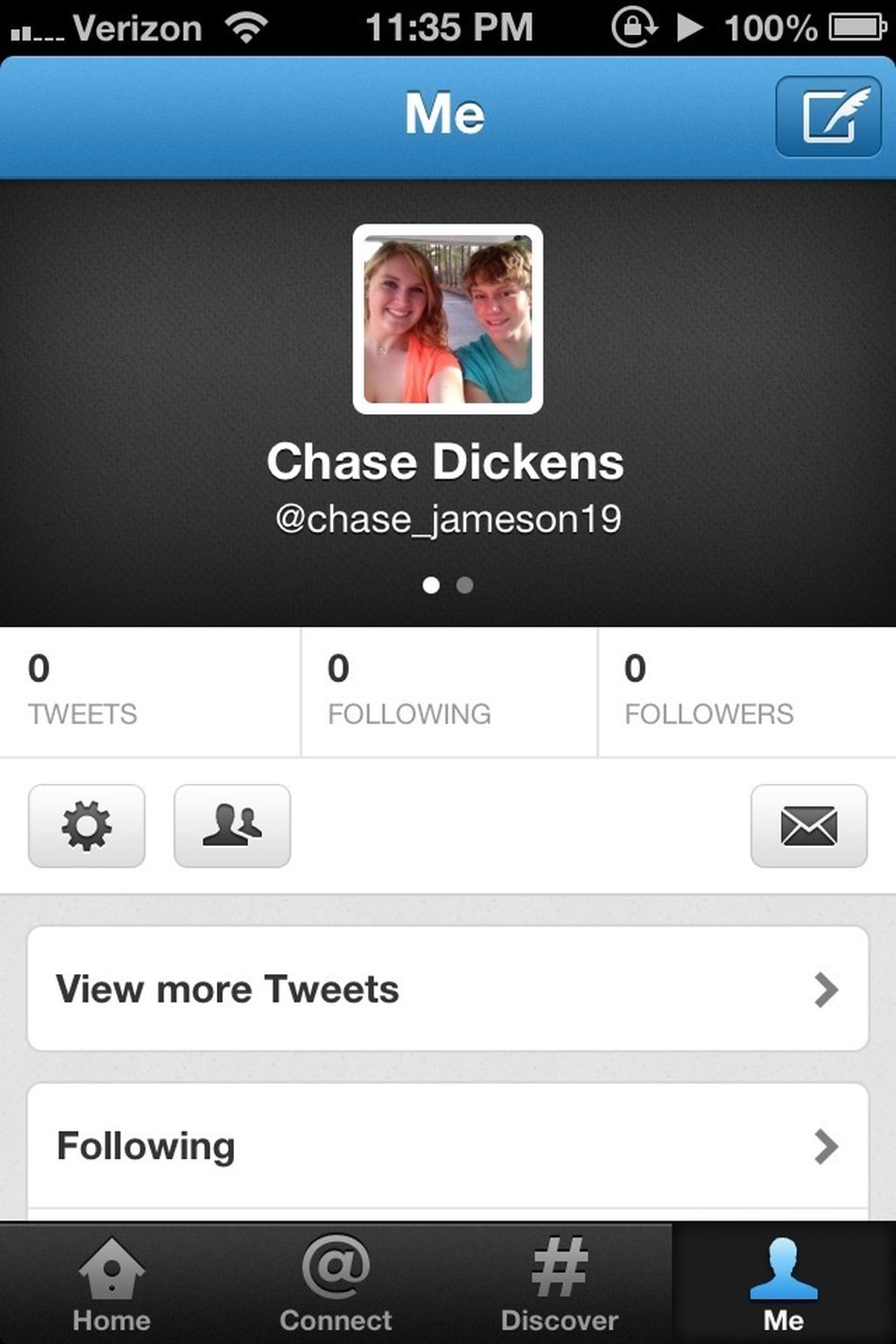 Made a new twitter.:/ Follow me!:) @chase_jameson19