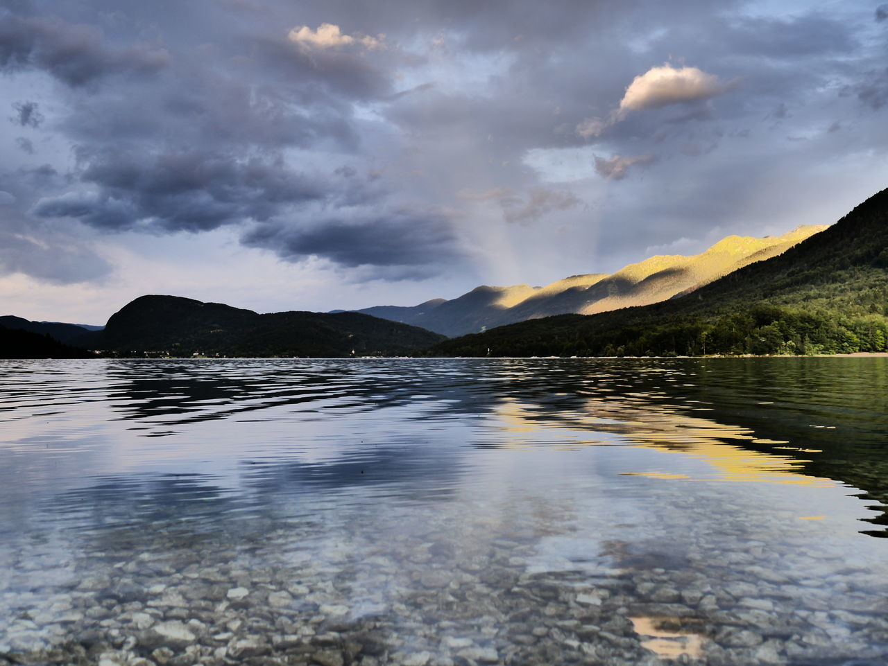 Beauty In Nature Bohinj, Slovenia Bohinjlake Day Horizontal Lake Landscape Mountain Mystical Nature No People Outdoors Reflection Sky Skylight Slovenia Slovenian Alps Slovenian Panorama First Eyeem Photo