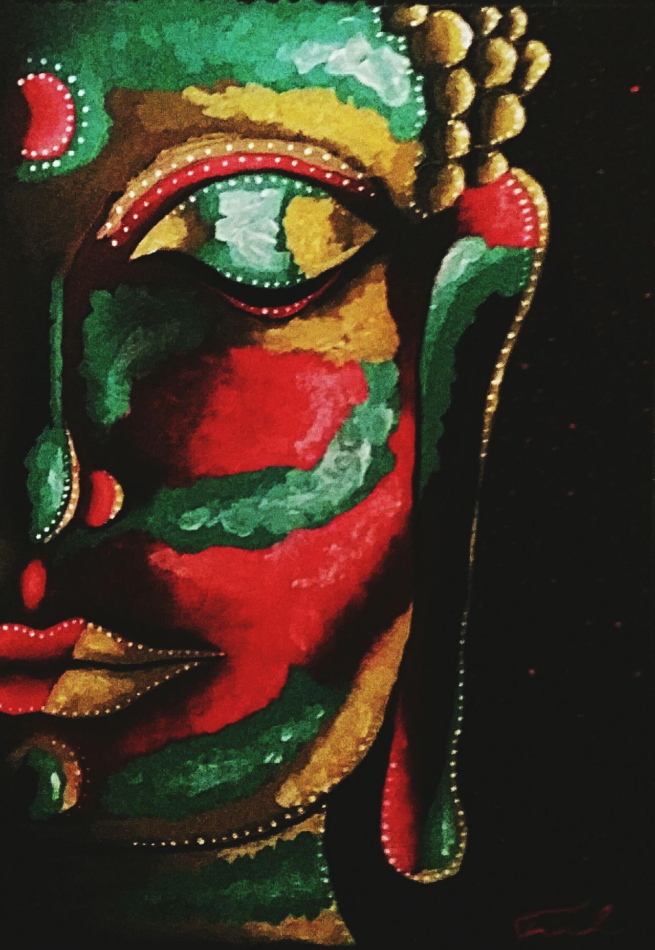 Acrylic Painting Colourful Spirituality Buddha Buddhism
