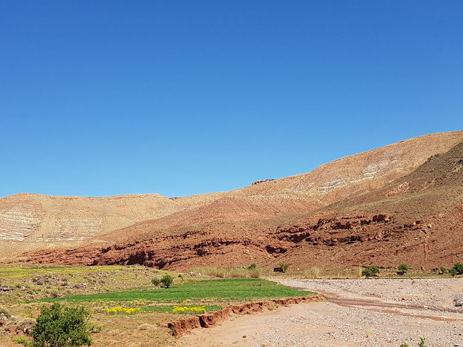 Blue Clear Sky Sky Sand Day No People Outdoors Nature Sand Dune Desert Morocco Mountains Scenics Beauty In Nature