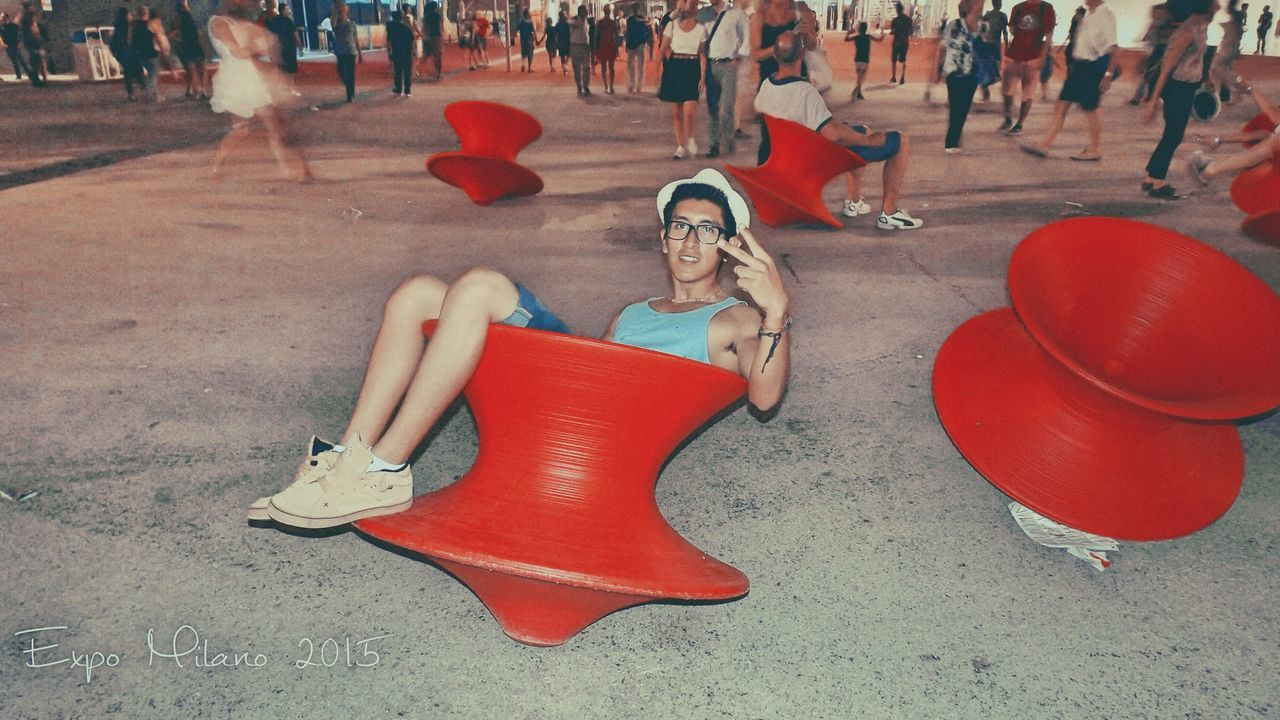 Photographer Photo Photography Picture Beautiful Night Summer Red Men Boy Expomilano2015 Expo Milano 2015  People Relax Adventure