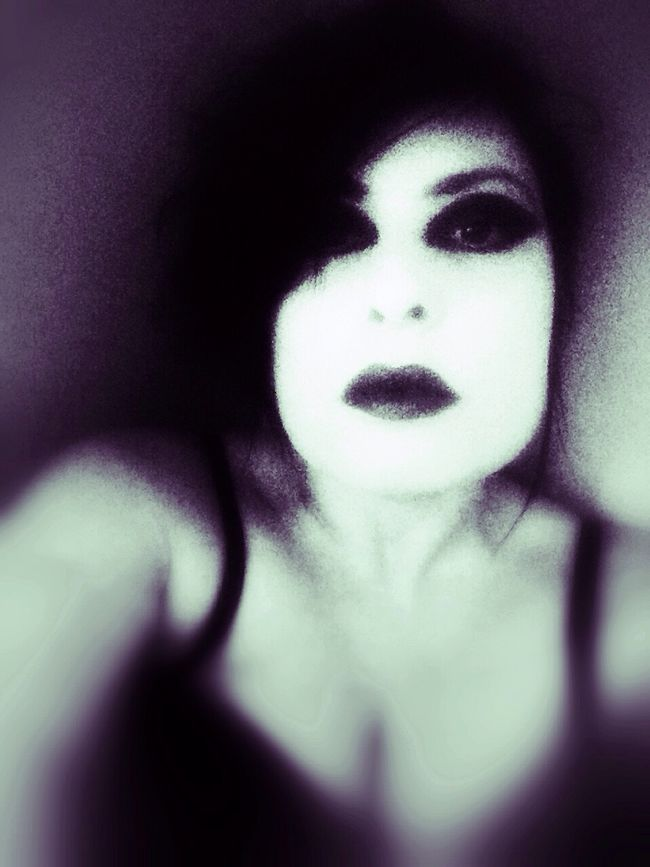 Watching you Goth Dark Portrait Selfportrait STAY HUMAN 💯 Open Edit NEM Self OpenEdit Blackandwhite Monochrome MeMyself&I Black & White Selfportrait_tuesday_nonchallenge Vampires And Werewolves