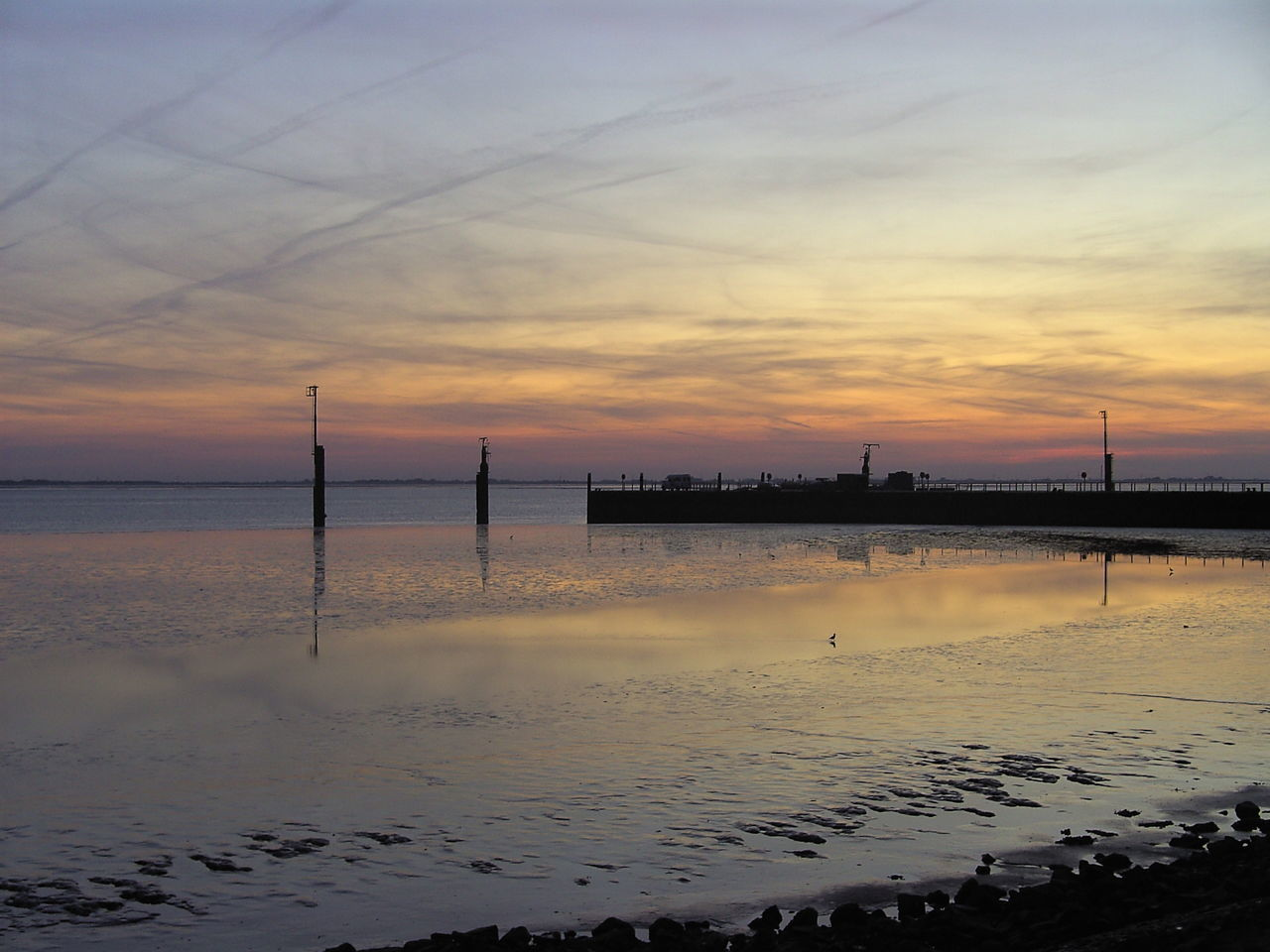 Sunset Reflection Horizon Over Water Beach Landscape Sea Water Sky Summer Cloud - Sky Sunlight Low Tide Tranquility Sun Travel Destinations Horizon Beauty In Nature Silhouette Outdoors Tranquil Scene Eastfrisia Rysumer Nacken Home