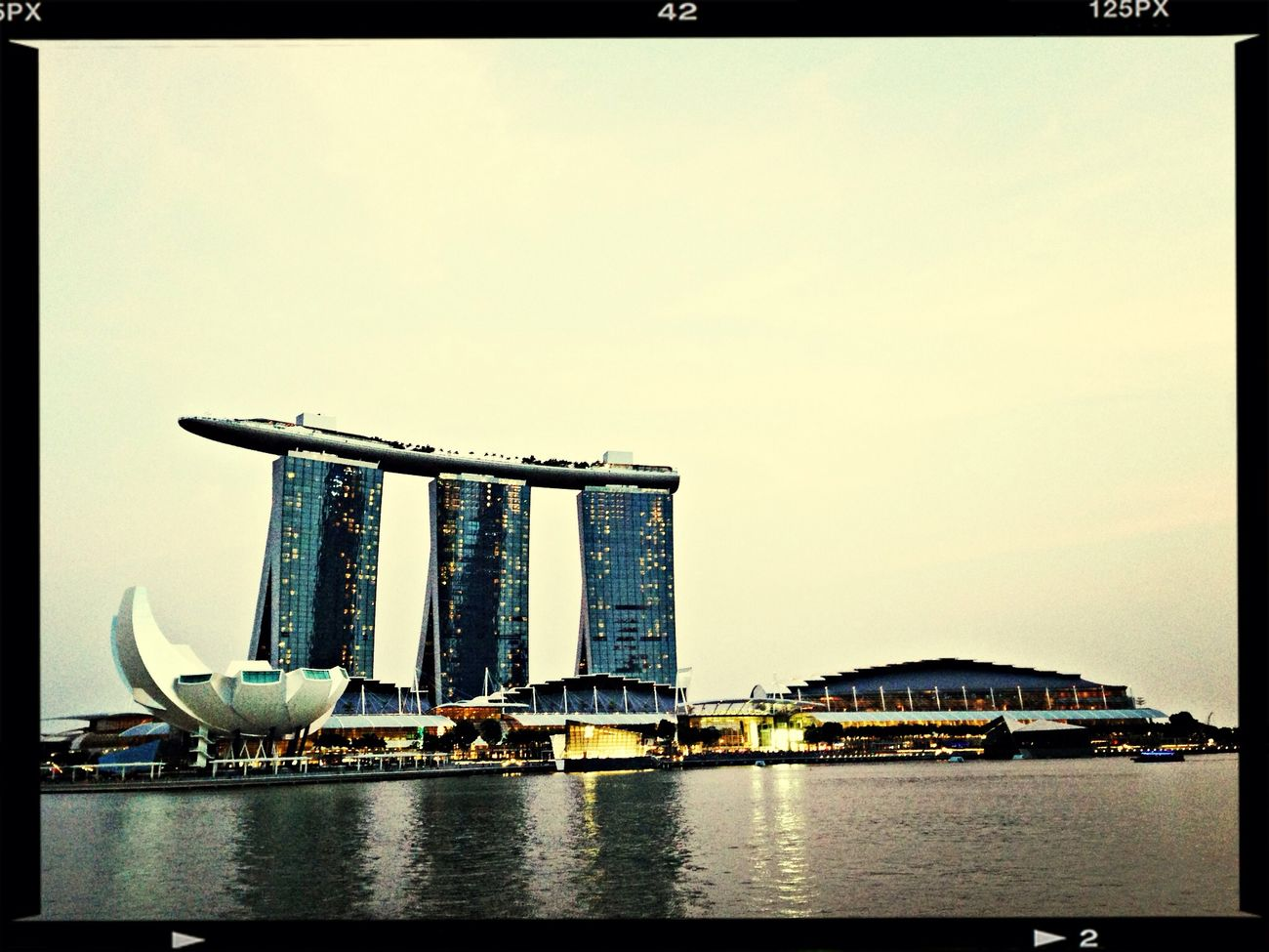 First shot of MBS with Marina Bay