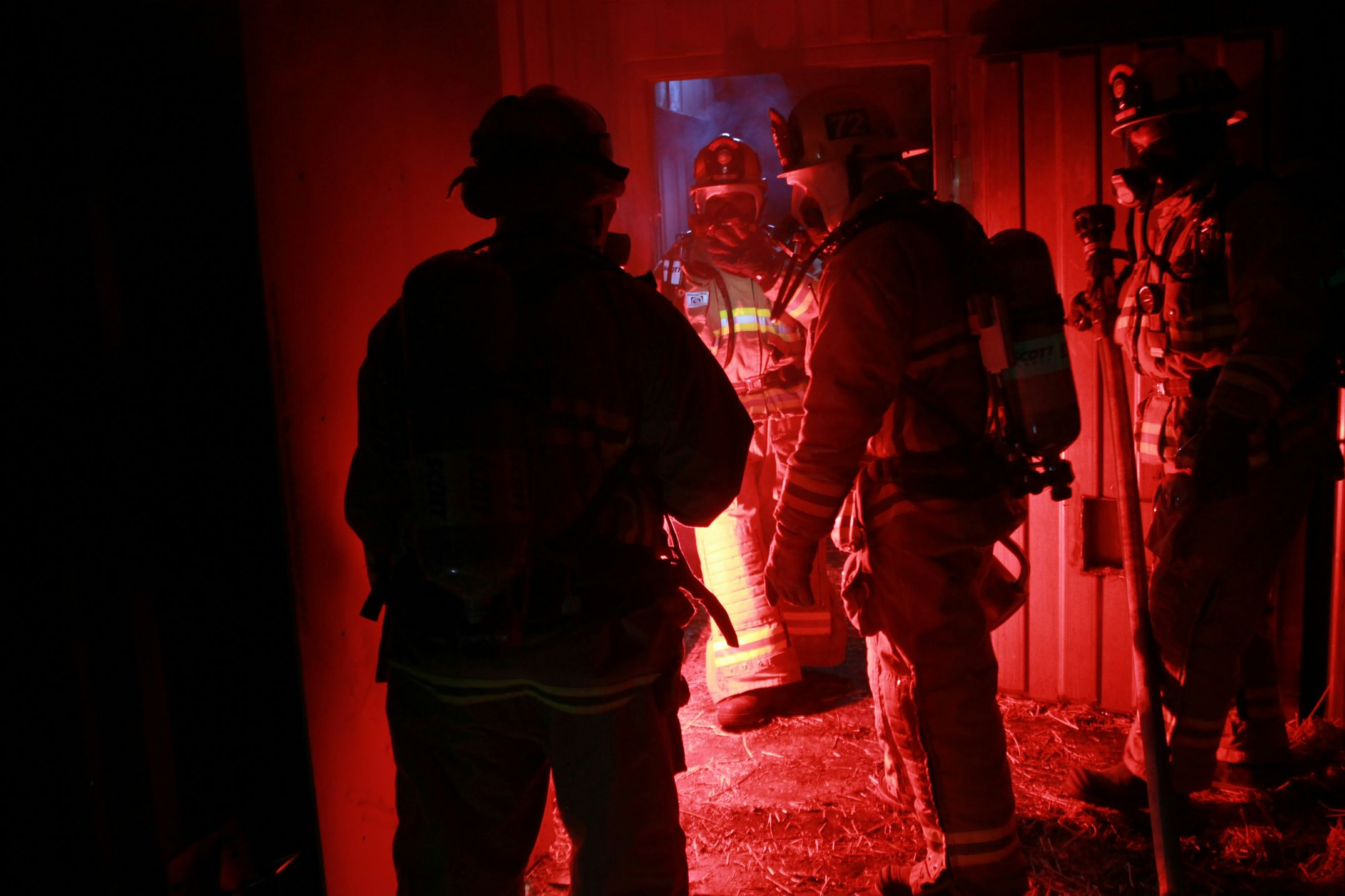 FirehouseFire And Flames Attack Firefighter Fire Helmets Turnouts Laddercompany 911