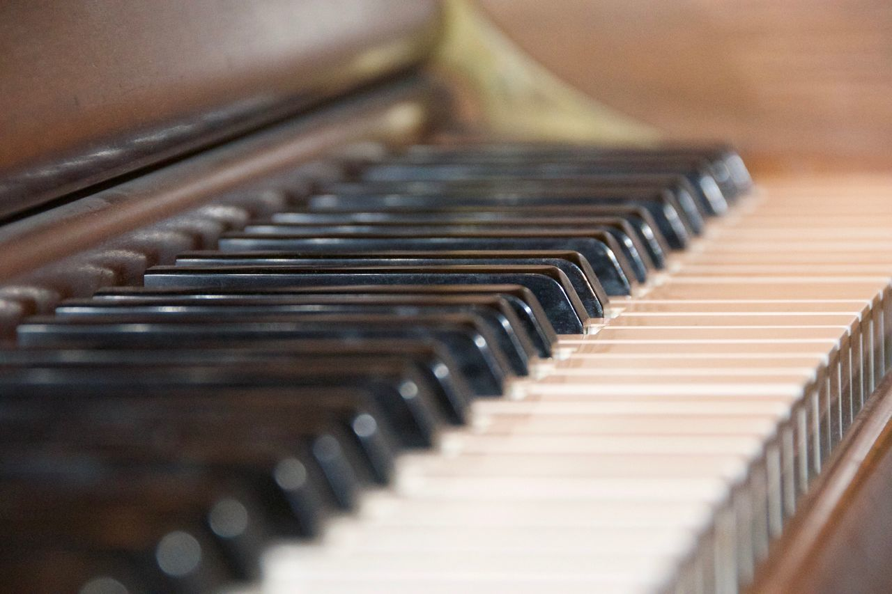 Piano Moments 88 keys. Piano Music Close-up Indoors  Musical Instrument Beauty Solemn 365