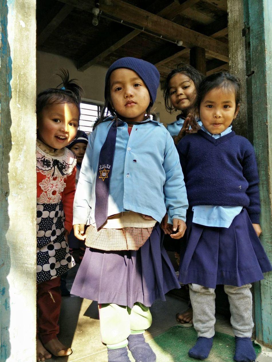 School Uniforms Around The World Nepal Nepali  Nepalipeople😊 Nepaligirls Taking Photos Taking Photo Taking Pictures Taking Photos Traveling Travelphotography Travel Photography Travelling Travel School School Uniform Kids Children Photography Children