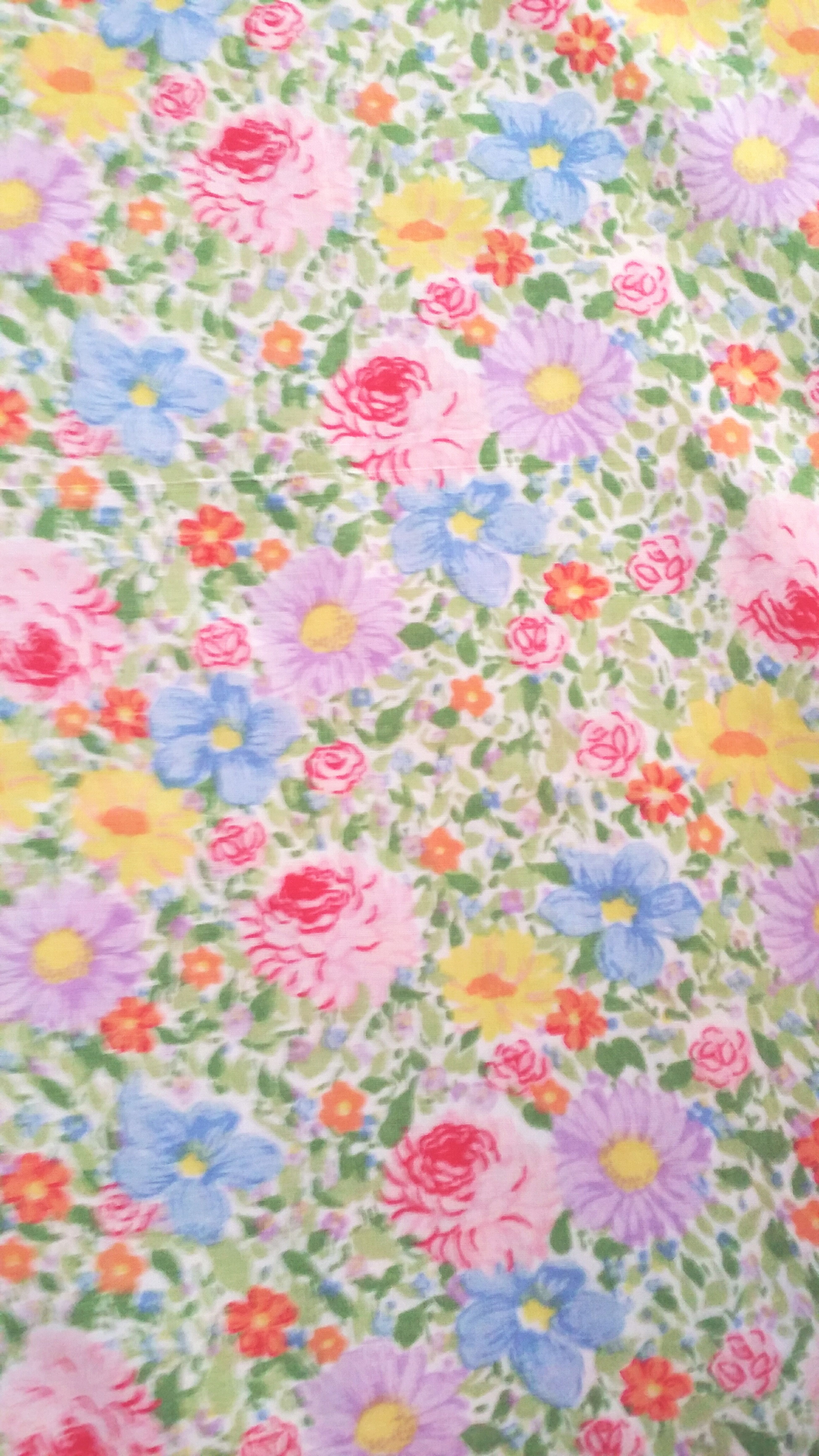Retro print pillowcase my mom made when i was a kid. Pattern Floral Pattern Multi Colored Close-up January 2017 FairfaxCalifornia Sewing Fabr8c Childhood